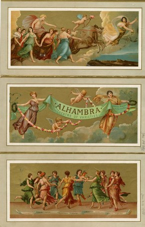 Alhambra Theatre programme, London, England, January 1898