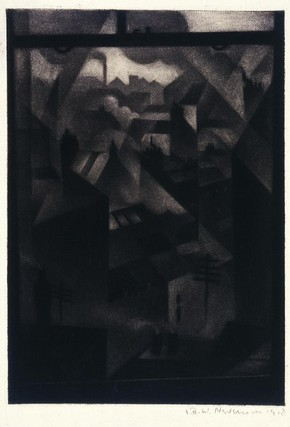 From an Office Window, Christopher Richard Wynne Nevinson, 1918. Museum no. E.2972-1962