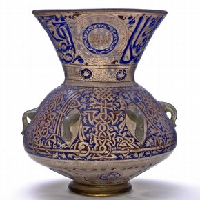 Mosque lamp of Sultan Hasan, about 1360. Museum no. 323-1900
