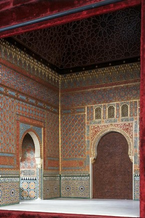 Model of Alhambra interior, Enrique Linares, Spain, 19th century. Museum no. A.26-1936