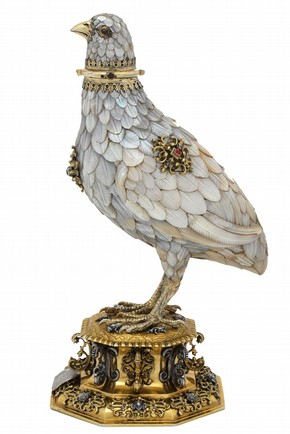 Silver-gilt cup in the form of a partridge, by Jorg Ruel, Nuremberg, Germany, about 1600. Museum no. Loan: Gilbert 60-2008