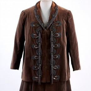 Brown velvet jacket worn by Gertrude Stein, Pierre Balmain, Paris, 1945-6
