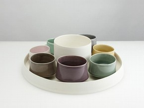 """Oriole"" Supper Set, Thrown and assembled porcelain, 2010, 56cms Ø x 27cms H"