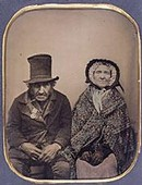 Anonymous, 'Veteran of Waterloo and his Wife', about 1850-60