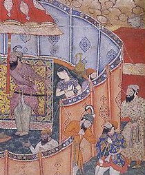 Painting from the Hamzanama, Mughal India, 16th century