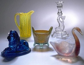 Glassware by Burtles Tate & Co, 1885