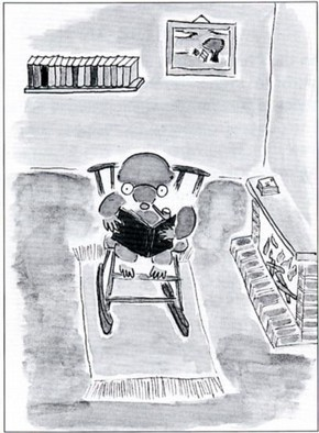 Illustration from 'Matthew muddles through' by Tessa de Reijck, Royal Russell School, Surrey, 1993.