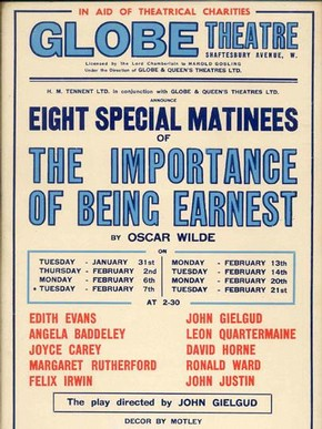 Poster advertising the Globe Theatre production, 1939