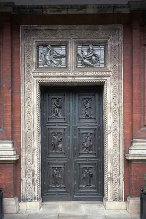 Original front entrance to the Victoria and Albert Museum designed by James Gamble.