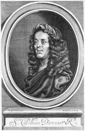 Engraved frontispiece in &#39;The Works of Sir William Davenant&#39;, 1673