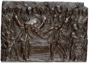 Plaquette, 'The Entombment', Andrea Briosco (1470-1532), Italy (Padua), 1450-1500, bronze. Museum no. 6979-1860, © Victoria and Albert Museum, London