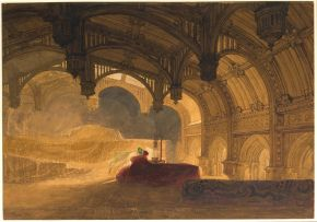 John  Sell Cotman, 'Interior of Crosby Hall [Bishopsgate]', 1831. Museum no.  P.19-1927, © Victoria and Albert Museum, London