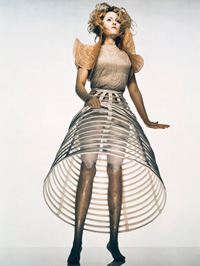 Photograph of Aimee Mullins for 'Dazed & Confused' magazine, issue 42, 1998; by Nick Knight (b.1958) with art direction by Alexander McQueen (b.1970); London 1998. E.633-1998 © Victoria and Albert Museum, London