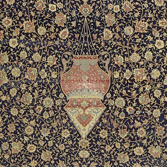 Detail Showing The Central Medallion Ardabil Carpet