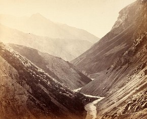 The Buspa Valley at Sancha, India, by Samuel Bourne, 1866. Museum no. 53:121