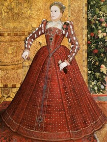 Hampden Portrait of Elizabeth I, attributed to Steven van Herwijk or Steven van der Meulen, England, about 1560.  Philip Mould Ltd