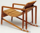 Armchair (back view), designed and made by Eileen Gray, before 1929. Museum no. Circ.578-1971