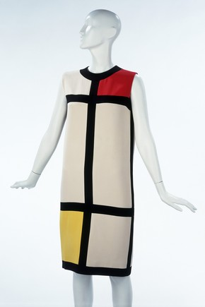 'Mondrian' cocktail dress, Yves Saint Laurent, 1965. Museum no. T.369-1974