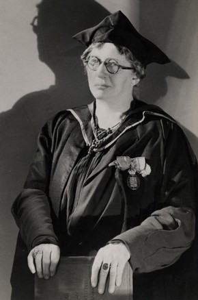 Lilian Baylis, black and white photograph, around 1930