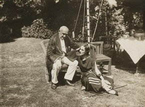 Anna Pavlova and Enrico Cecchetti at Ivy House, black and white photograph, 1927