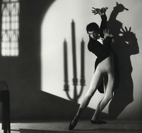Robert Helpmann in Apparitions, Sadlers Wells Ballet company, black and white photograph, 1936