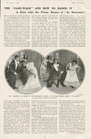 Magazine article relating to The Cakewalk at the Shaftsbury Theatre (1888-1941), 1903
