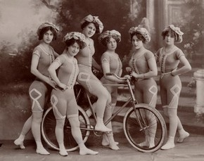 The Kaufmann Troupe of Trick Bicyclists, 19th century