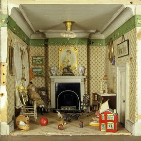 Amy Miles&#39; dolls-house, showing a detail of the nursery, around 1890. Museum no. W.146-1921