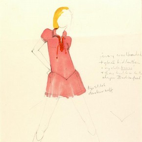 3) Mary Quant (b.1934), fashion design, London, mid 1960s. Museum no. E.523-1975