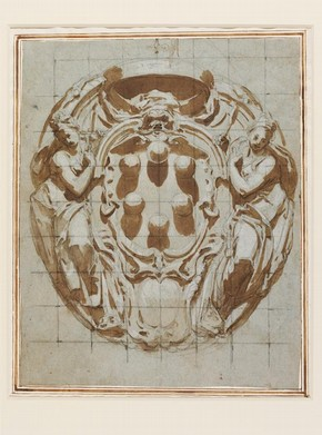 Cartouche with Medici Arms by Poccetti. Museum no. E.532-2008