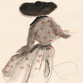 3) Bernard Blossac (1917-2001), fashion illustration, Paris or London, late 1940s. Museum no. E.167-1987