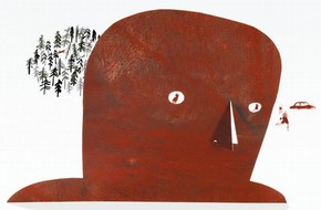 Laura Carlin illustrations to 'The Iron Man' by Ted Hughes, Walker Books, 2010