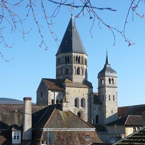 The only surviving part of the great church built at Cluny, France, constructed from about 1088. It was originally part of the transept. Photograph by Marianne Serra.