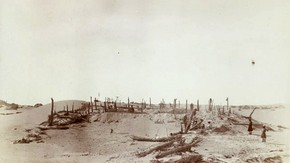 Niya site after partial excavation, Sir Marc Aurel Stein, 1906. Photo 392/27(86), © The British Library Board