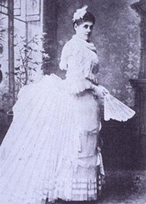 Miss Leila Johnson, Photograph, 1885