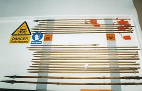 Arrows in storage