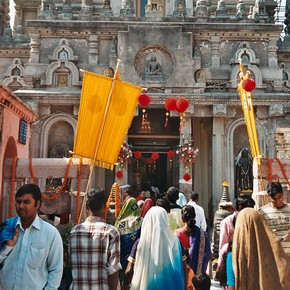 Pilgrims at Bodhgaya, India. Photograph by John Clarke, 2009