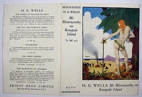 Dust jacket design by Sir William Orpen for 'Mr. Blettsworthy on Rampole Island, published London, Ernest Benn, 1928. Museum no. AAD/1995/8/05/205