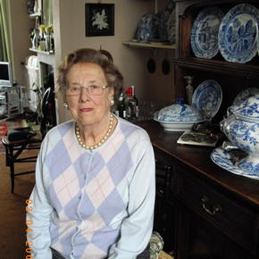Barbara Morris in her home, Photograph, February, 2009. Photograph by Linda Sandino