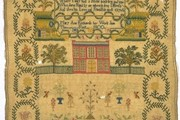 Sampler, Mary Ann Richards, 1800. Museum no. T.96-1939