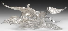 'Union' Centrepiece, designed and made by Miriam Hanid, silver, raised and chased, London, 2013. Museum no. M.1-2013
