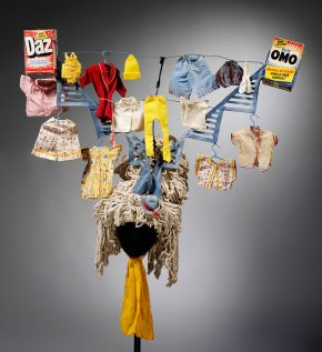 Costume for Widow Twankey, John Vickers, about 1980. Museum no. S.2633-1986