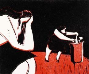 Swava Harasymowicz, 'A Woman's Day', linocut
