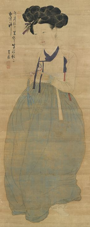 Portrait of a Beauty, Sin Yun-Bok, 1800-1900. Kansong Art Museum ©KANSONG ART MUSEUM