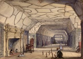 Joseph Nash, 'The Gallery, Knole House, near Sevenoaks, Kent'. Museum no. 2996-1876, © Victoria and Albert Museum, London