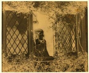 Figure 3 - B B Turner, Agnes Chamberlain at the Window, 1854, paper negative. Museum no. E.5-2009
