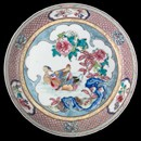 Dish, unknown maker, around 1730-1740. Museum no. 1994-1855
