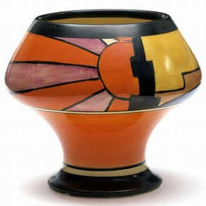 Sunray vase, Clarice Cliff, about 1929. Museum no. C.74-1976. © Victoria & Albert Museum, London