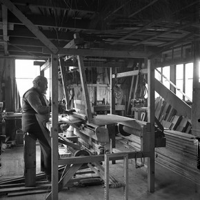 David Kirkness in his Kirkwall workshop, about 1910. Orkney Library & Archive