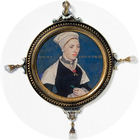 Miniature portrait of Mrs Jane Small, Hans Holbein, England, 1536-40.